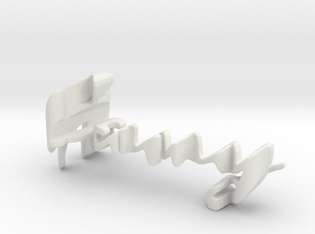 3dWordFlip: fany/joan in White Natural Versatile Plastic