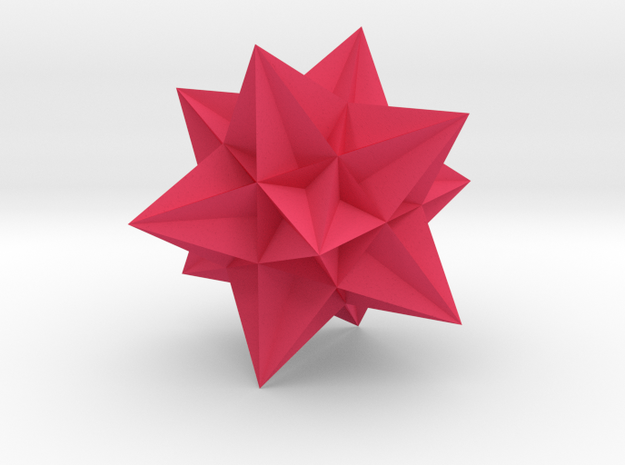 Great Icosahedron in Pink Strong & Flexible Polished