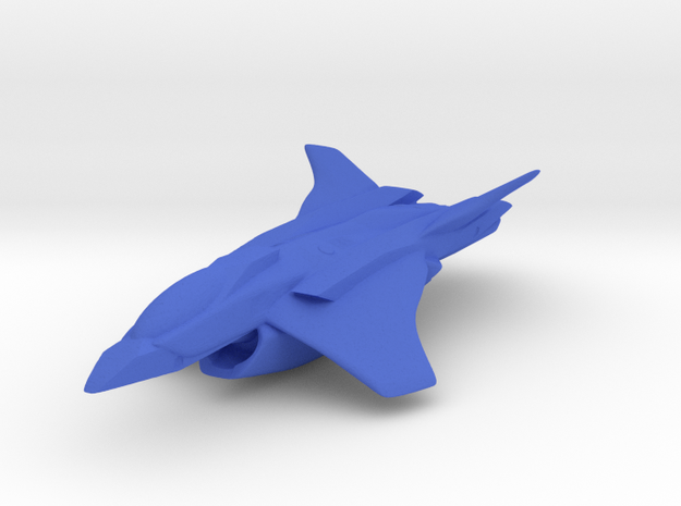 Interplanetary Jumper in Blue Processed Versatile Plastic