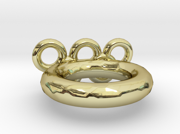 Olympic Ring US Size 9 in 18k Gold Plated