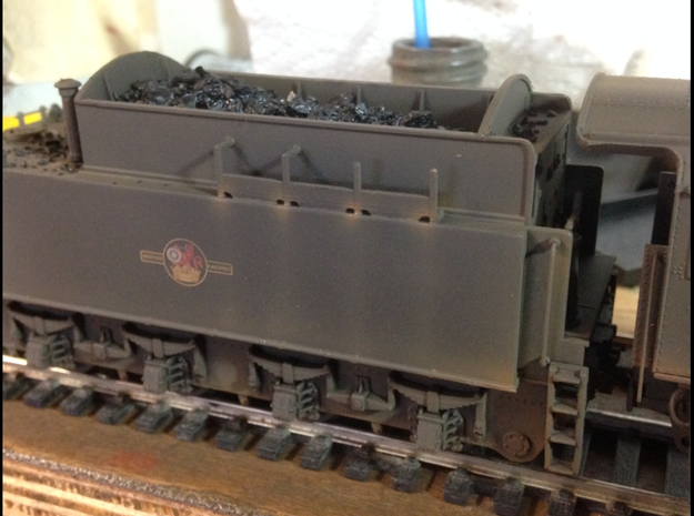 5x Tool carriers WD Austerity locos in Black Natural Versatile Plastic