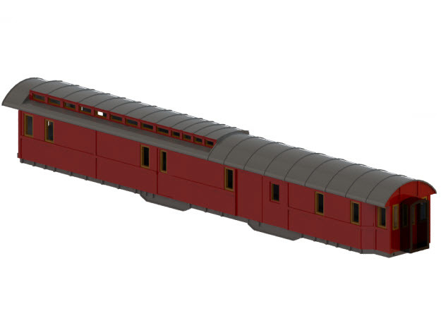 DFo3 - Swedish passenger wagon in Frosted Ultra Detail