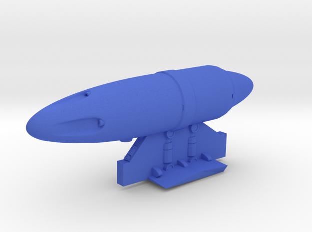 Gun_pod in Blue Processed Versatile Plastic