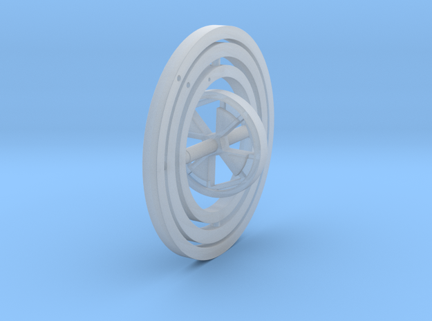 Gyroscope in Smooth Fine Detail Plastic