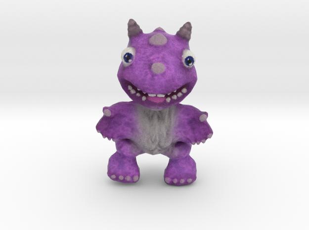 Purple Fur Dragon in Full Color Sandstone