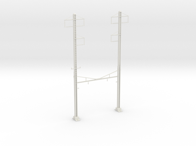 PRR CH 3PHASE+3PHASE  V2 CATENARY STEADY in White Natural Versatile Plastic