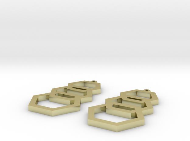 hexagon earrings in 18k Gold