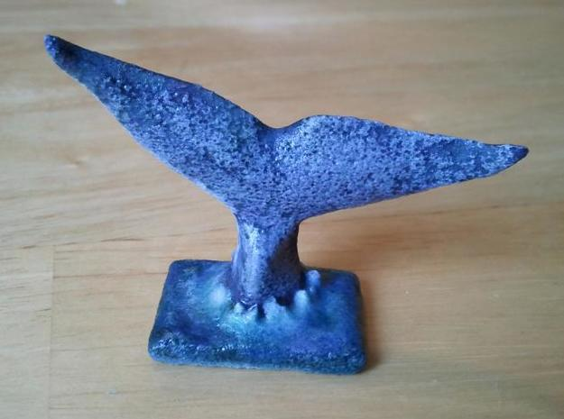 Whale Fluke Breaking Water 3d printed Polished version photo 1
