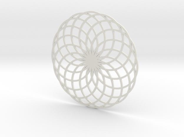 Coaster_7 in White Natural Versatile Plastic