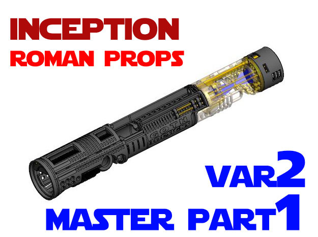 Roman Props Inception - Master Chassis Part1 Var2 in White Natural Versatile Plastic