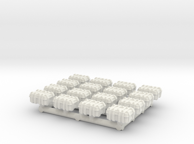 1/87 Scale Explosive Cases x16 v2 in White Natural Versatile Plastic
