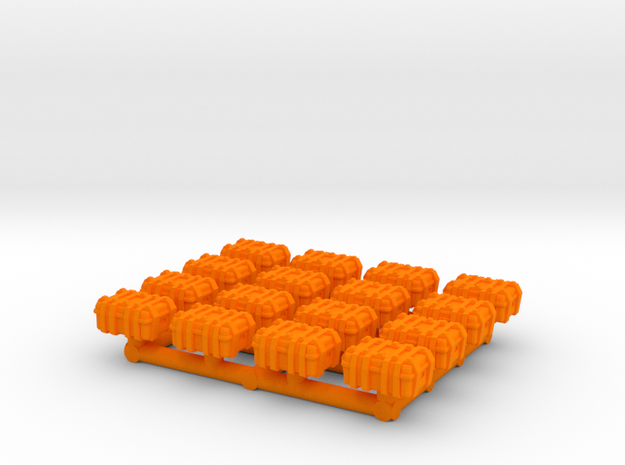 1/87 Scale Explosive Cases x16 v2 in Orange Strong & Flexible Polished
