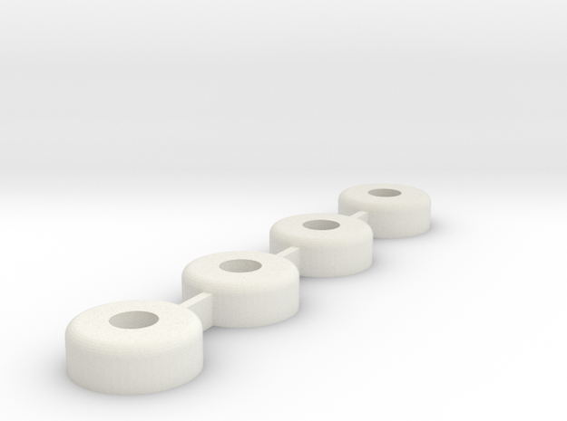 Traxxas B4 9612 Axle Conversion in White Natural Versatile Plastic