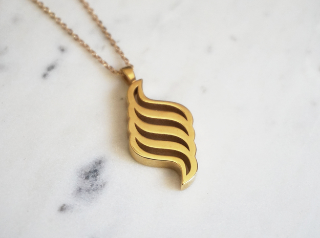 Jewelled Seas Untold Pendant in 14k Gold Plated