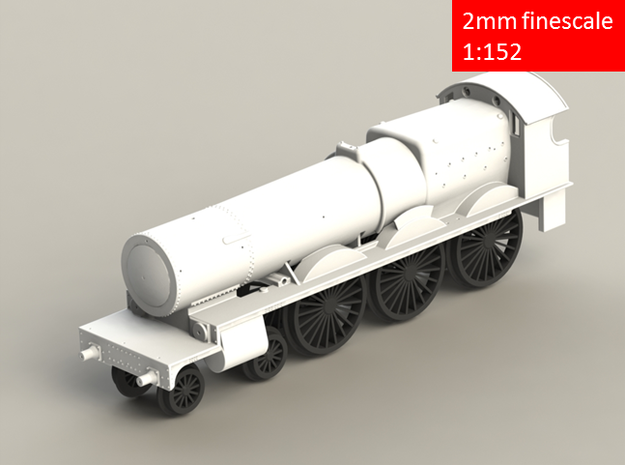 GWR 2900 Class locomotive, straight frame, 2mm FS in Smoothest Fine Detail Plastic