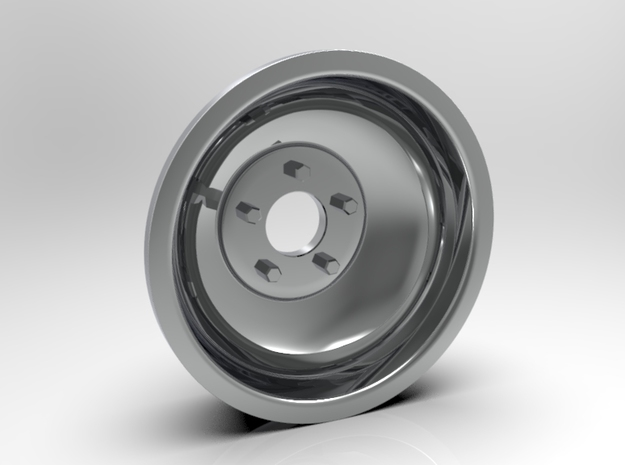 1:8 Rear Indy Solid Style Wheel in White Strong & Flexible Polished