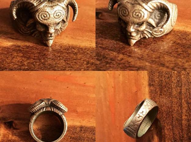 El Fauno - Pans Labyrinth Ring in Raw Silver