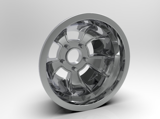 "1:8 Rear ""ET"" Racing Wheel in White Strong & Flexible Polished"