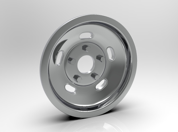 1:8 Front Indy Style Kidney Bean Wheel in White Strong & Flexible Polished