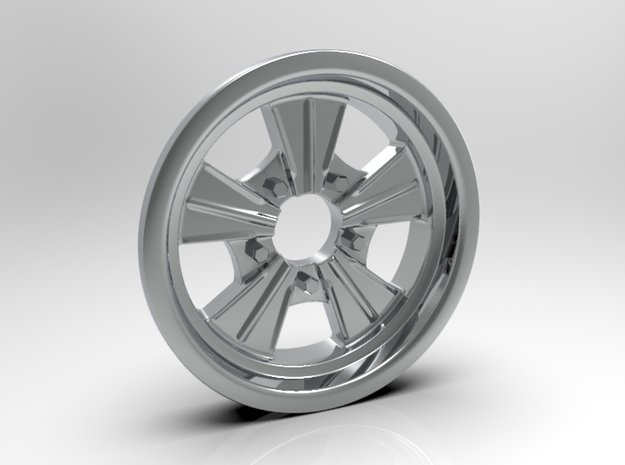 1:8 Front Radir Style Five Spoke Wheel in White Strong & Flexible Polished