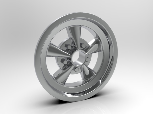 1:8 Front Crager SS Wheel in White Strong & Flexible Polished