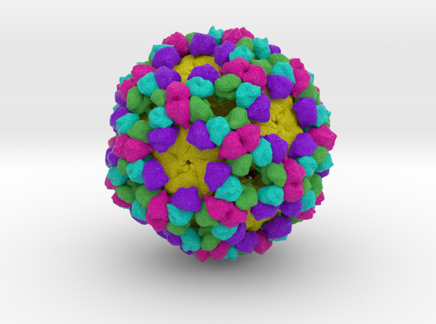 Bacteriophage α3 in Full Color Sandstone