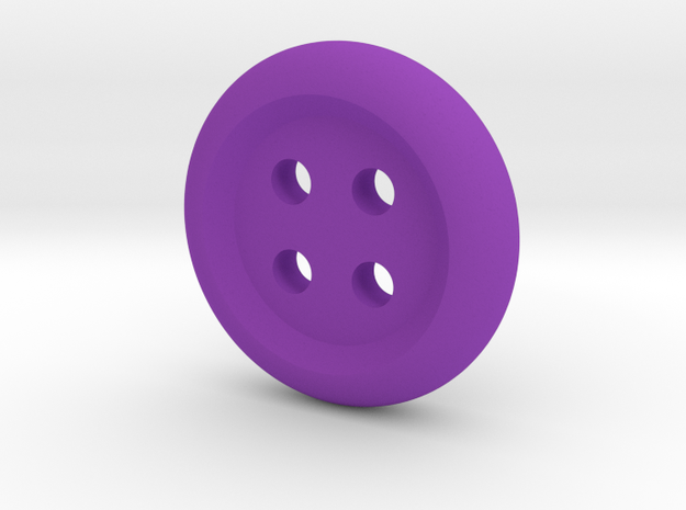 Donut Angled Button in Purple Processed Versatile Plastic