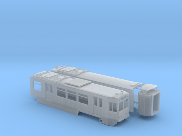 HO LA Metro P865/P2020 Blue and Expo Lines Car in Smooth Fine Detail Plastic