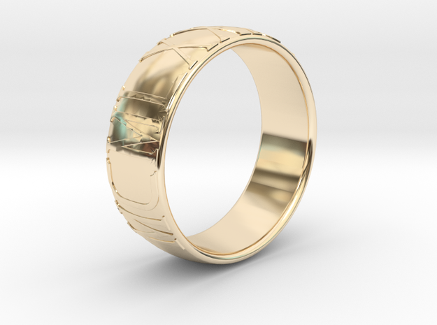 """1985"" ring - Roman numerals in 14K Gold"