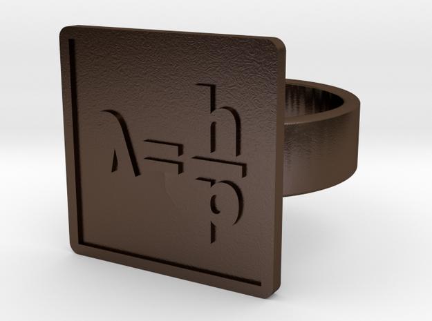 de Broglie Wavelength Ring in Polished Bronze Steel: 10 / 61.5