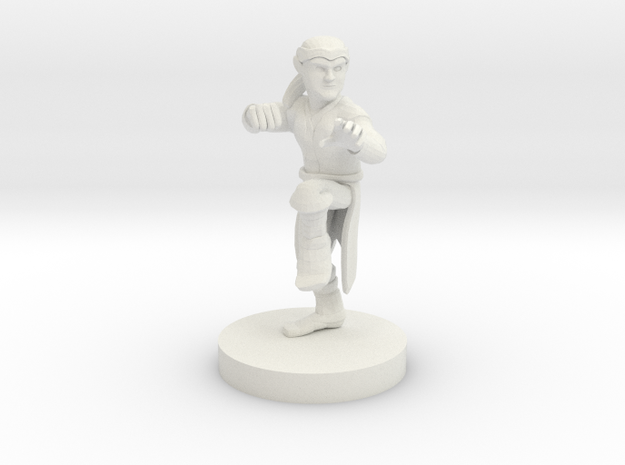 Halfling Monk in White Natural Versatile Plastic