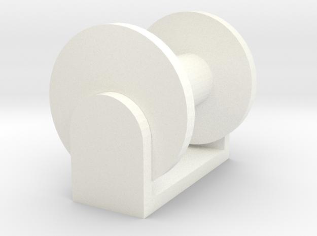 1-64hosereel in White Processed Versatile Plastic