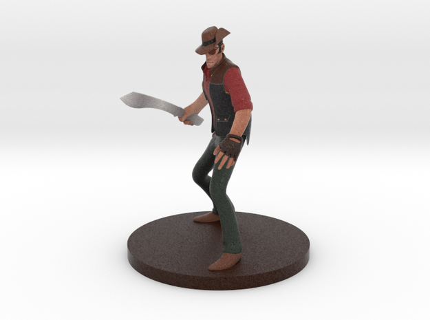 Team Fortress 2 ® Sniper figurine in Full Color Sandstone