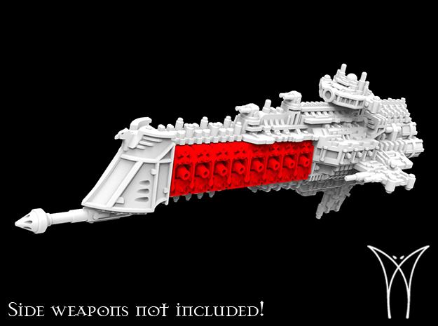 Victorius class Cruiser Hull in White Natural Versatile Plastic