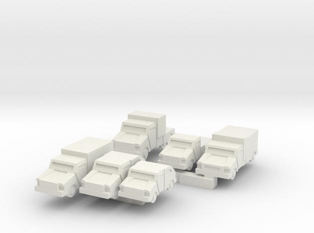 Mantis Series Of Small Light Vehicles in White Natural Versatile Plastic