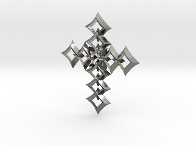 cross 05 in Polished Silver
