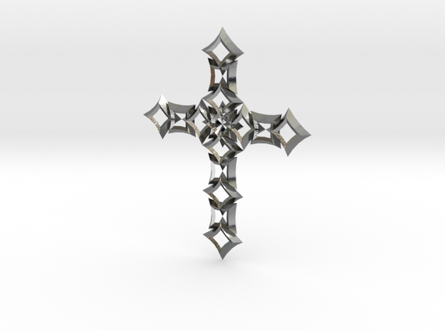 cross 07 in Polished Silver