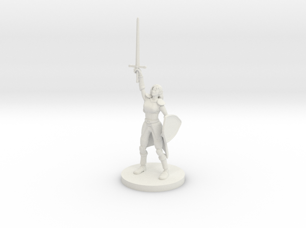 Female Elf Paladin Cleric with Sunblade