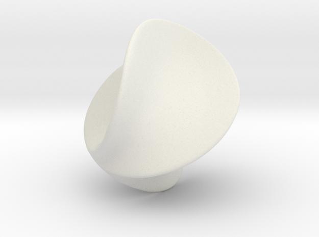 Verona Sphere in White Natural Versatile Plastic