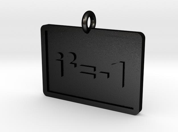 Complex Numbers Pendant in Matte Black Steel
