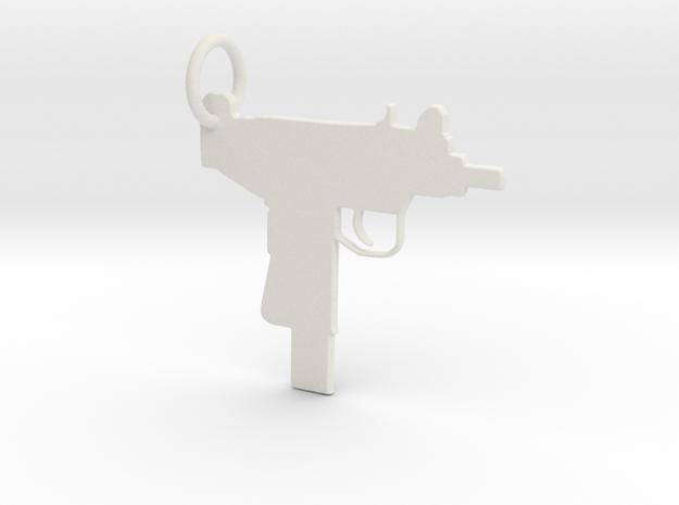 UZI Keychain in White Strong & Flexible
