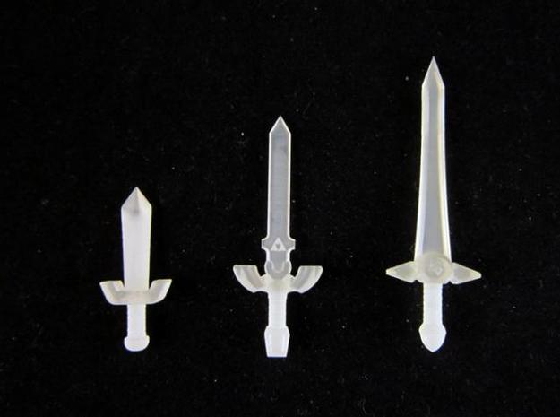 Sword Pack I 3d printed Frosted Ultra Detail