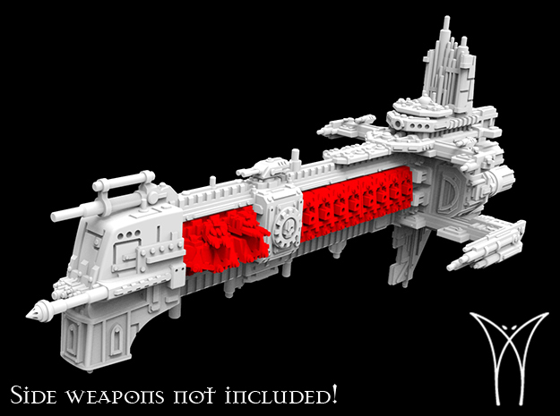 Explorer class Battleship Hull in White Natural Versatile Plastic