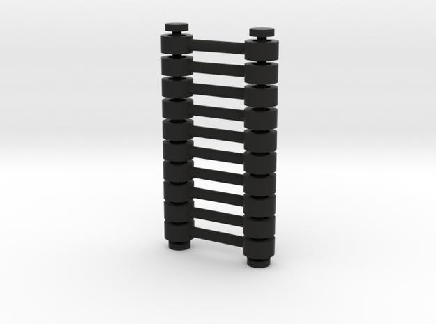 10x Kupplungsstange (Abstand=10) V2 in Black Natural Versatile Plastic
