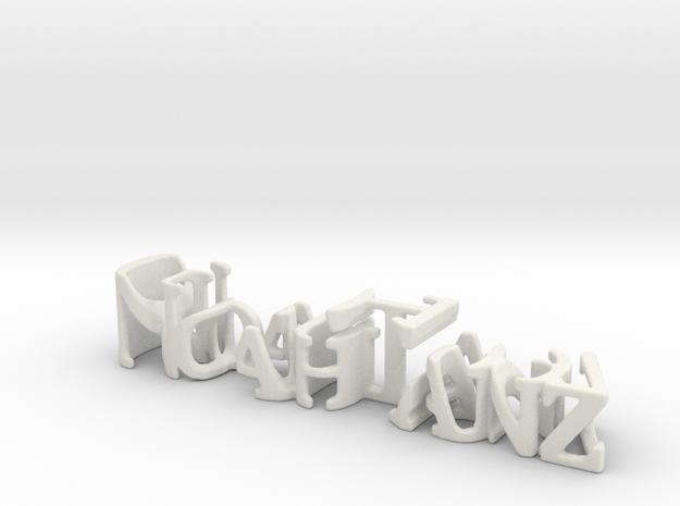 3dWordFlip: Noah Tanz/09-20-1997 in White Natural Versatile Plastic