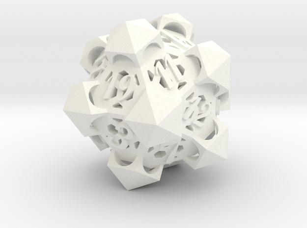 Gazebo d20 in White Processed Versatile Plastic