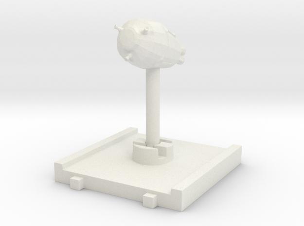 Escape Pod 3d-Token in White Natural Versatile Plastic
