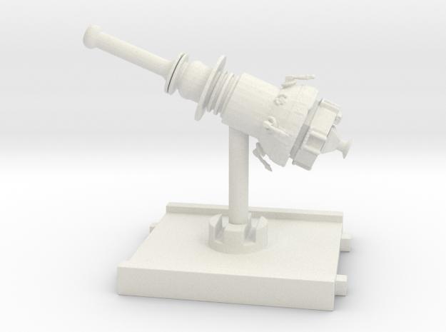 3D Satellite Token in White Natural Versatile Plastic