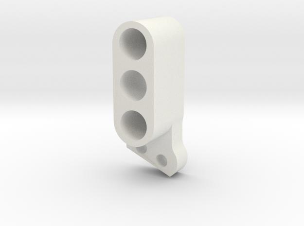 TC4 Camber Link Mount FR RL 2POS in White Natural Versatile Plastic