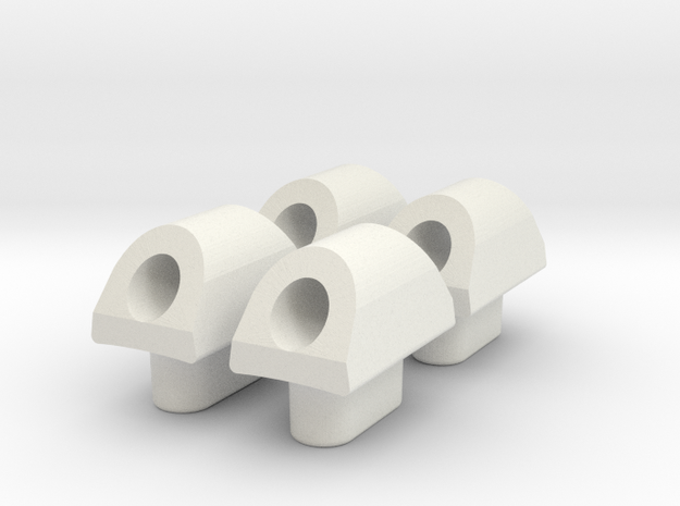 KRCNC2 cable holder in White Natural Versatile Plastic